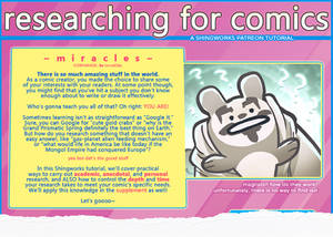 Researching for Comics Tutorial (preview)