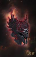 Raven-winged Helmet by Mikedeangelo