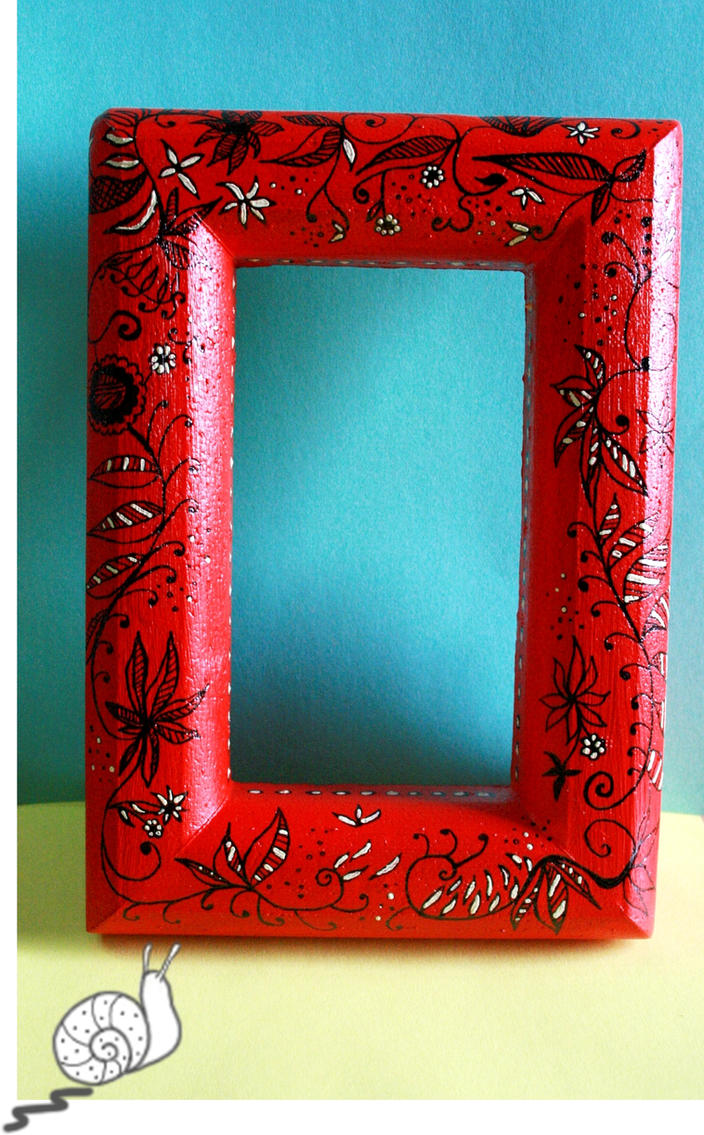 hand painted frame by hushloop on deviantart On painted picture frames