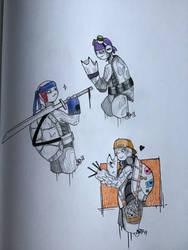 Turtle doodle (3/4) by agatecristal