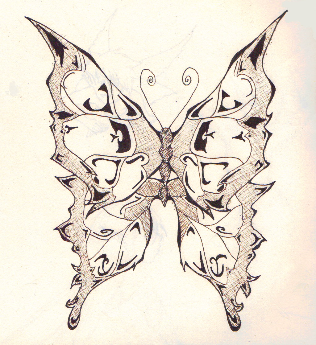 It is an image of Selective Butterfly Drawing Tumblr