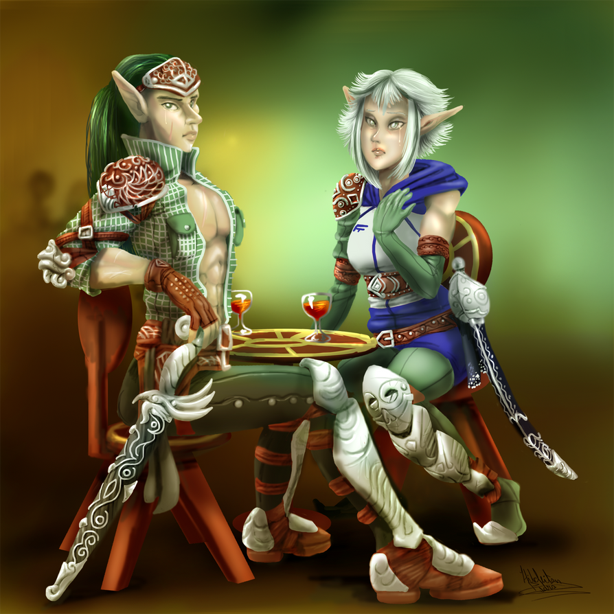 elves at the bar by tiocleiton