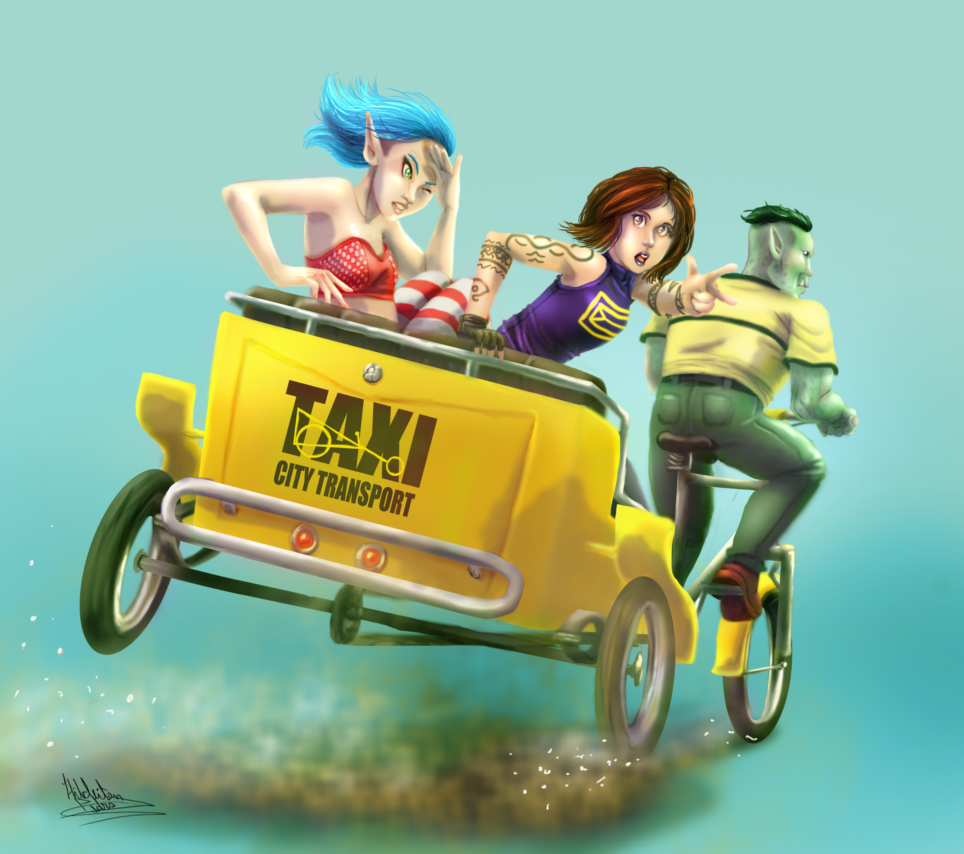 taxi ride 2 by tiocleiton