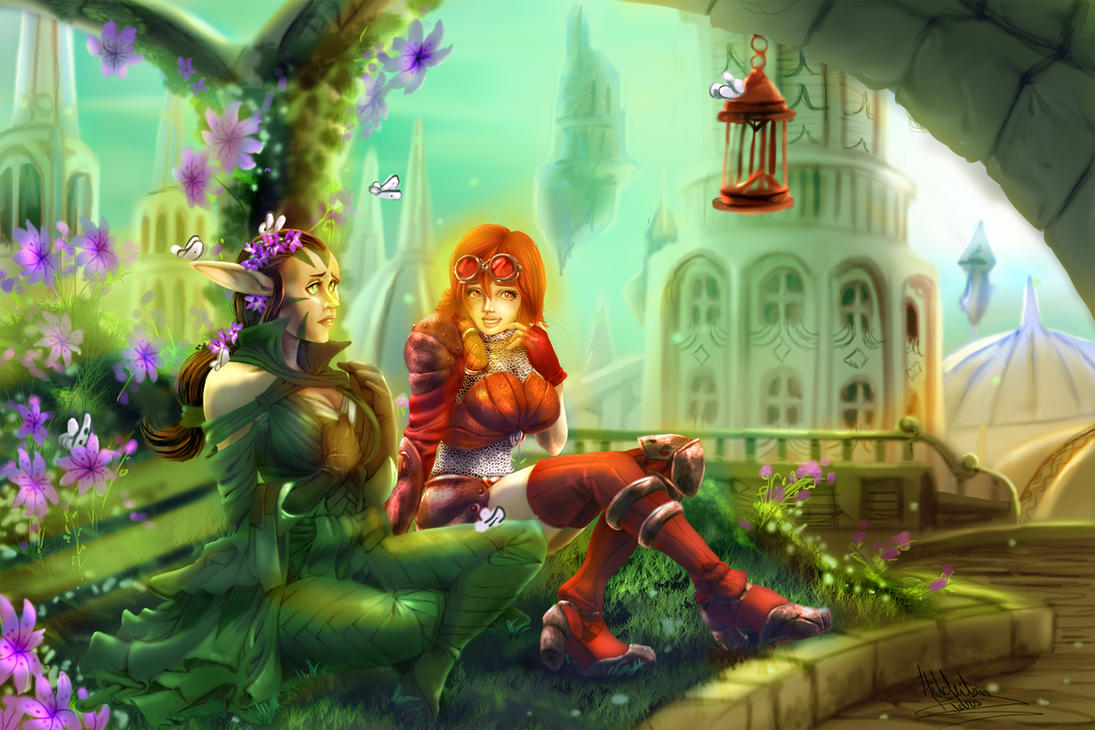 Chandra And Nissa by tiocleiton