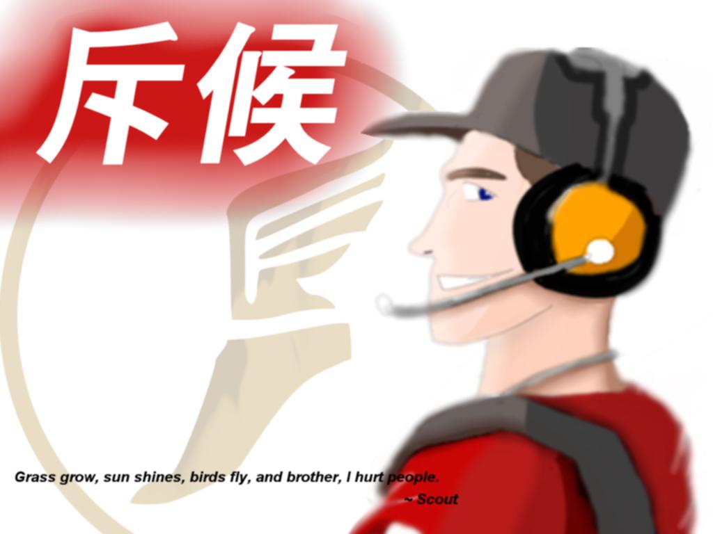 TF2 Anime Style Scout By Sozo Teki