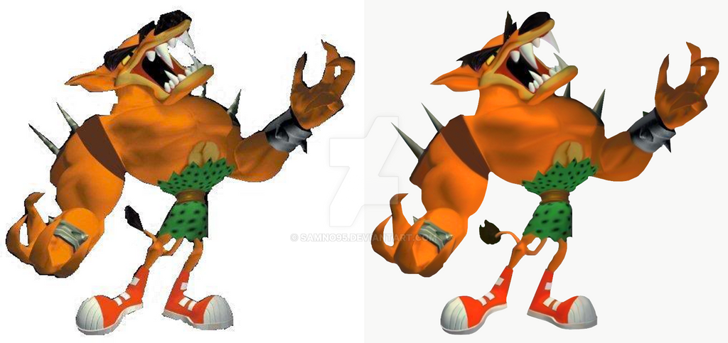 Crash Bandicoot Anniversary Re-Render: Tiny by Samno95