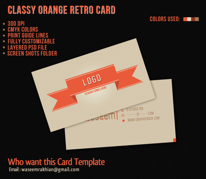 Classy retro business card template by waseemzzz on deviantart classy retro business card template by waseemzzz colourmoves