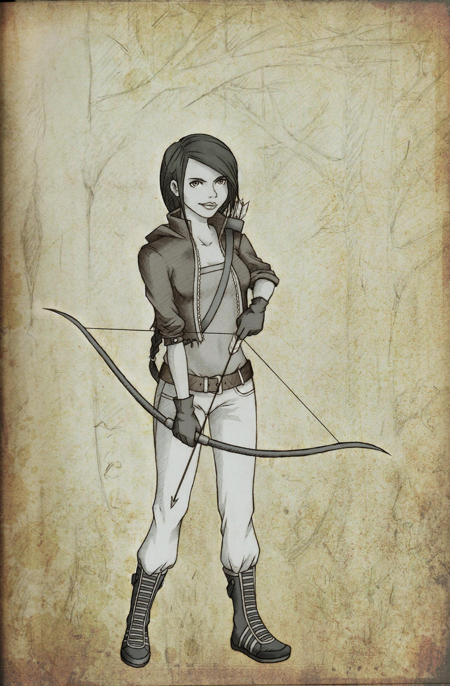 Katniss Everdeen by graysee