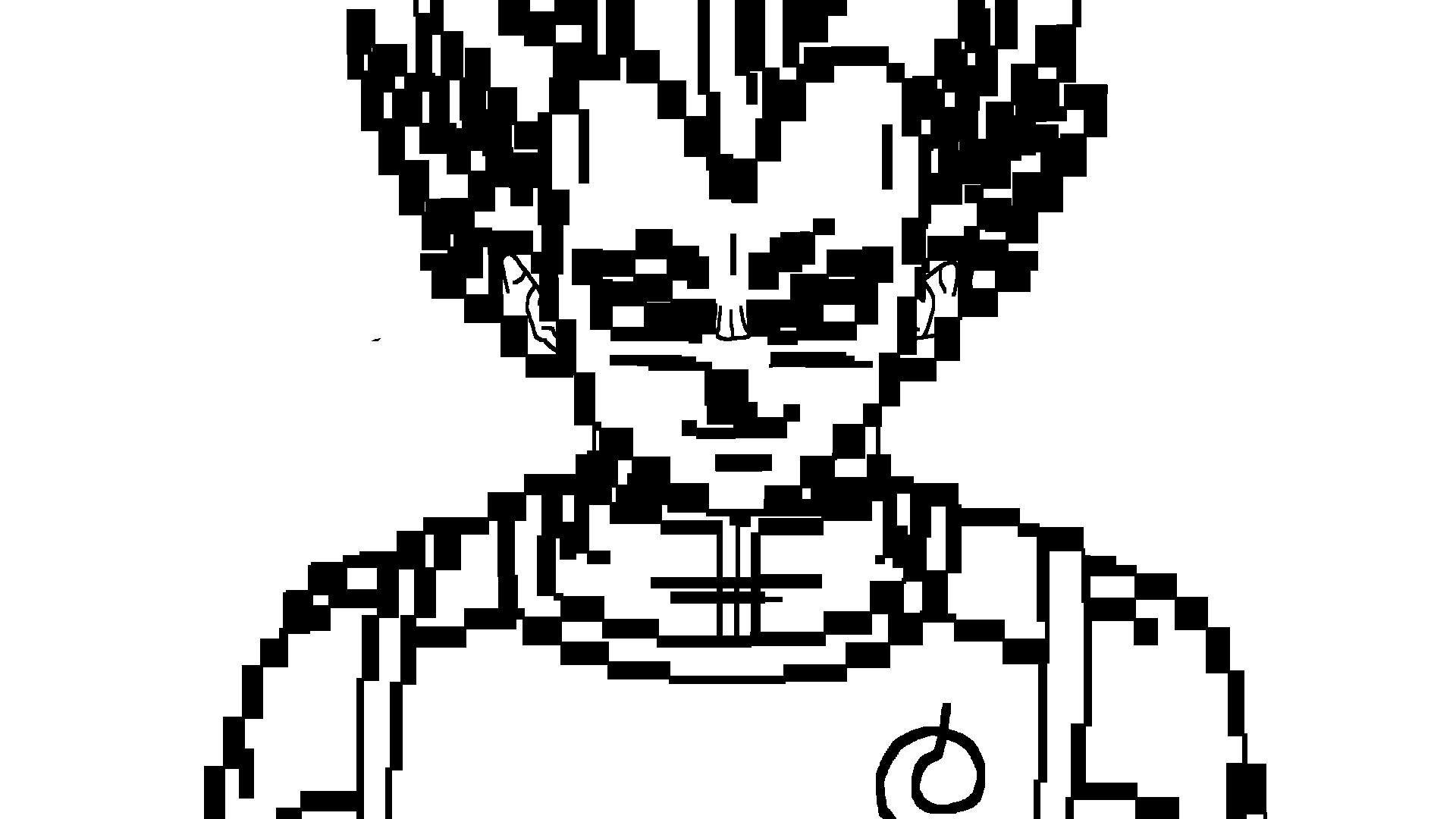 Dragon Ball Z Lineart : Dragon ball z resurrection f vegeta blue lineart by