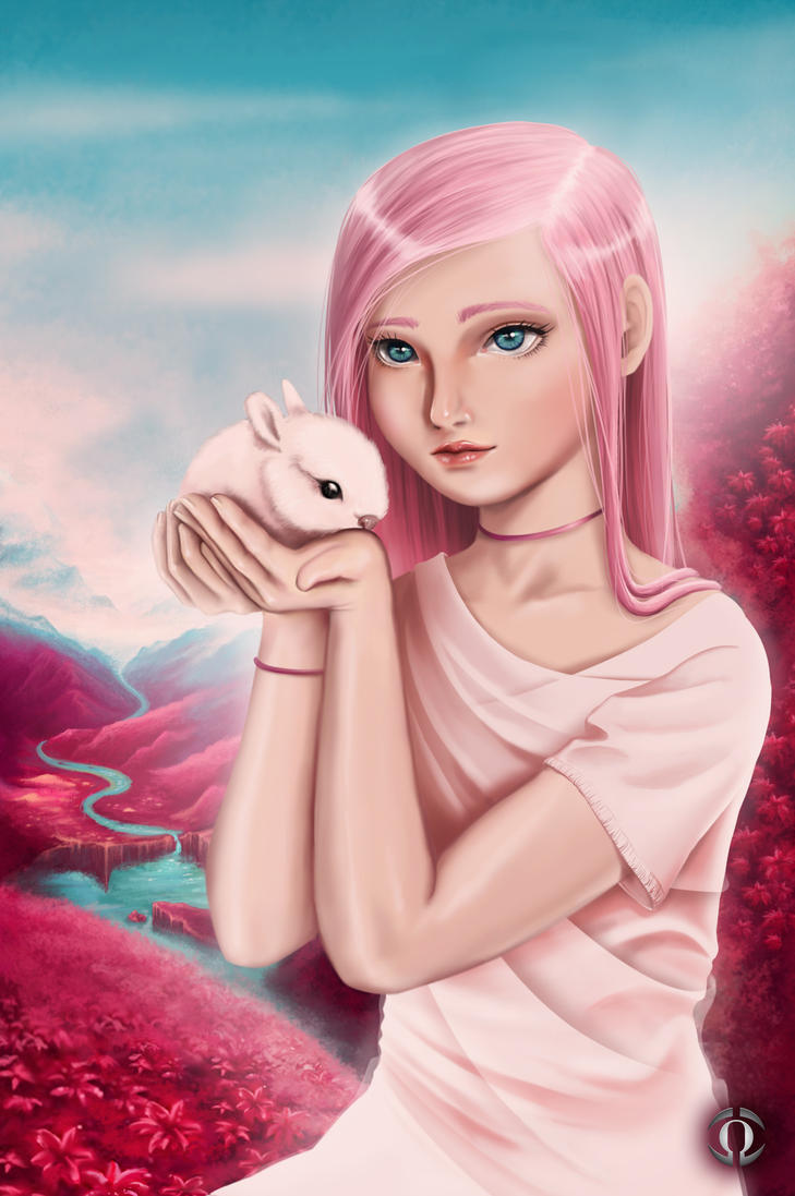 Lady and the Rabbit by AngeloQuintero