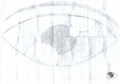 An eye before the tear