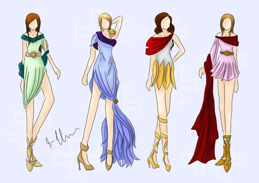 Egyptian Dresses by wondagirl
