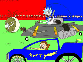 Rick and Morty on Rocket League by MaximumsRickimus137