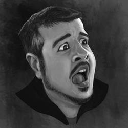 Self portrait by kartoonist435