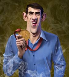 Michael Phelps 2 by kartoonist435