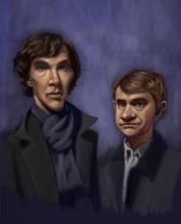 Sherlock Sketch Completed by kartoonist435