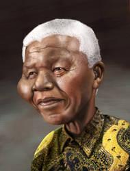 Nelson Mandela by kartoonist435
