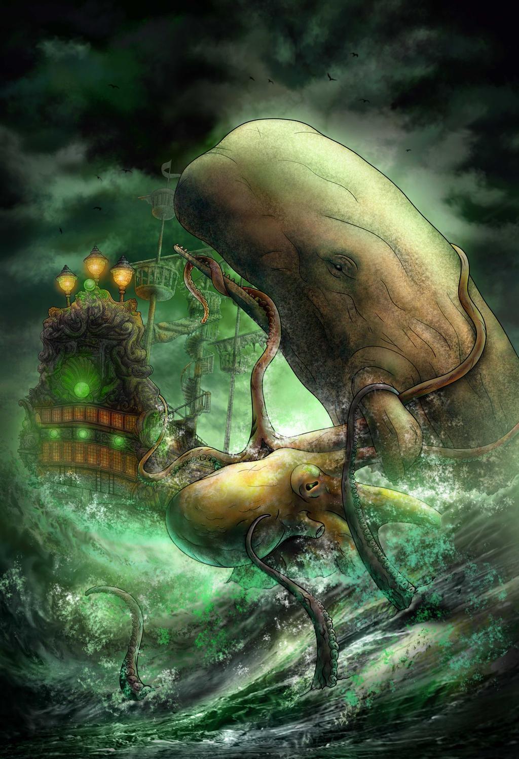 Moby Dick vs. The Kraken by poleson on DeviantArt