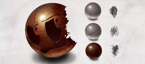 Texture+Brushes: Metal by CGCookie