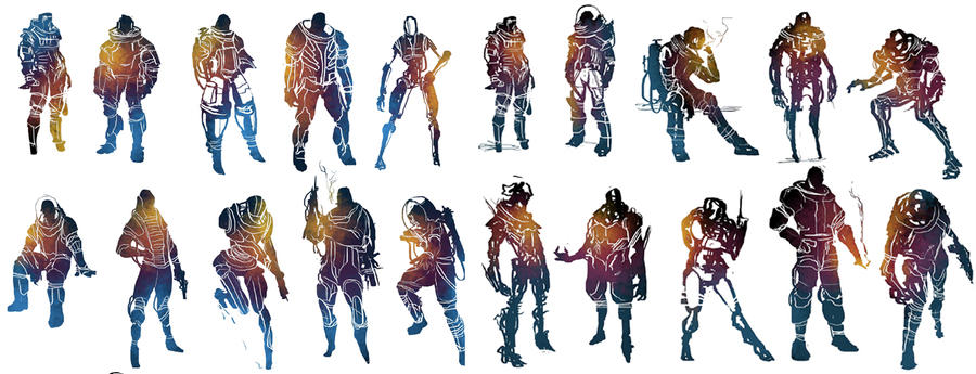 PS Sci-Fi Character Silhouettes by ConceptCookie
