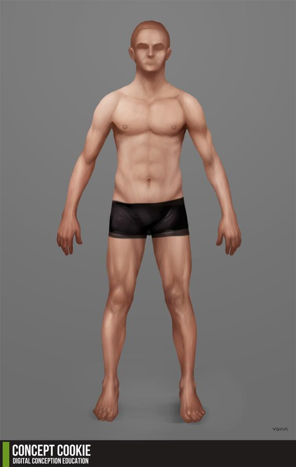 Resource: Human Male Standing Body Reference by CGCookie on DeviantArt