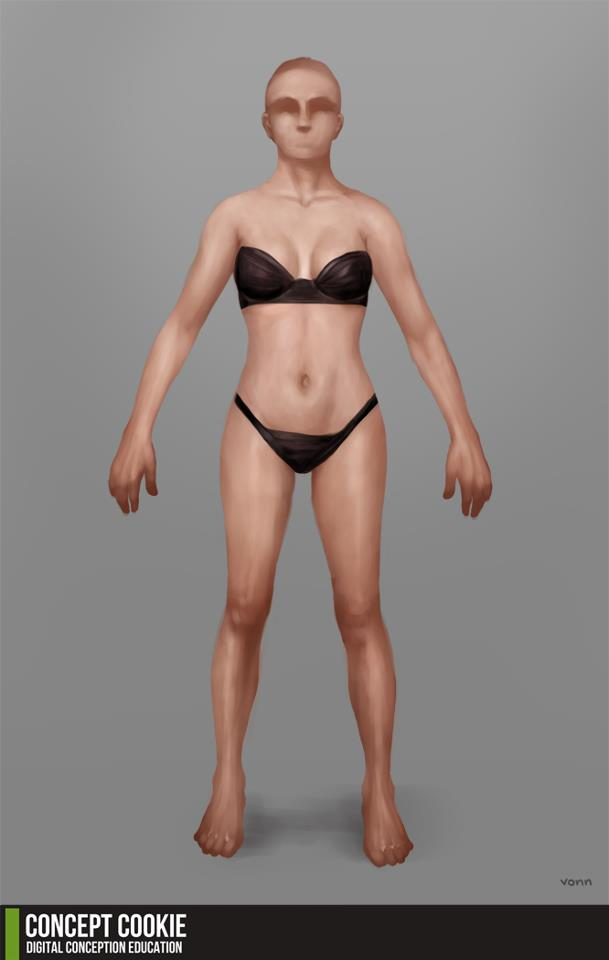 Resource: Human Female Standing Body Reference by CGCookie