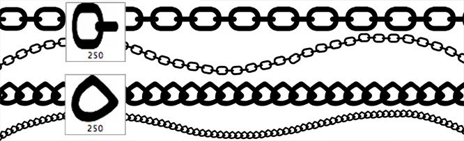 Chain and Link Brushes by CGCookie