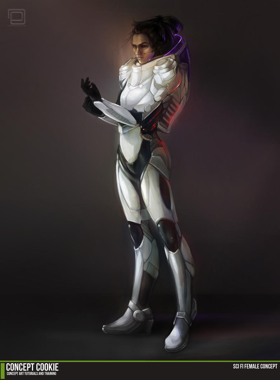 Sci Fi Character Design Tutorial : Concept art tutorial sci fi female by conceptcookie on