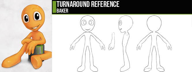 Blender Character Modeling Template : Baker turnaround by cgcookie on deviantart