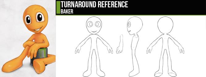Blender Cookie Character Modeling : Baker turnaround by cgcookie on deviantart