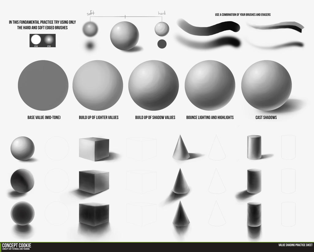 Fundamentals: Value Shading Demo by ConceptCookie