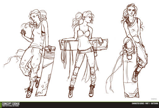 Female Character Series - Sketching the Outline