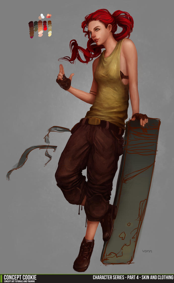 Female Character Series 4 Skin and Clothing by CGCookie