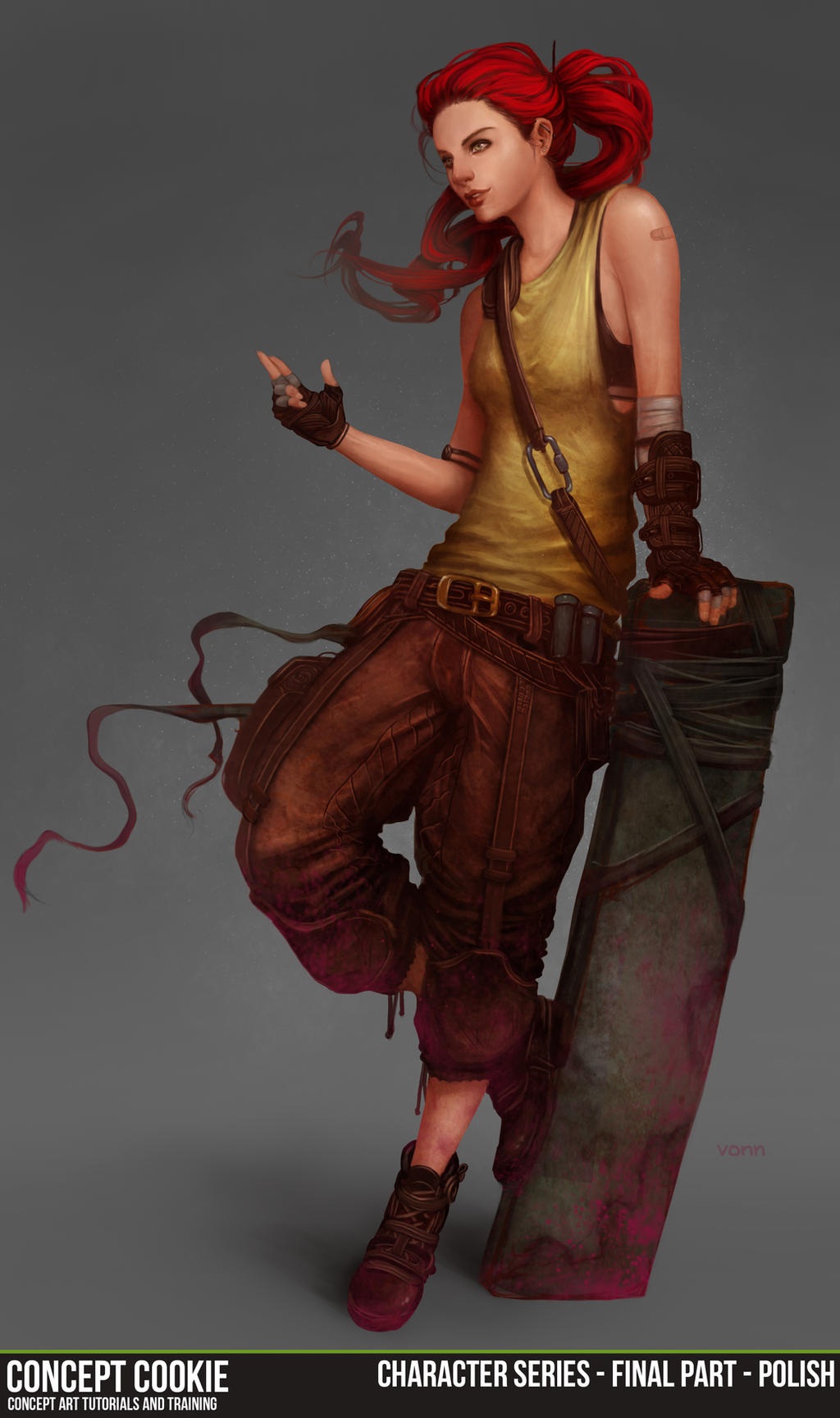 Female Character Series Part 5/6 - Final Polish by ConceptCookie