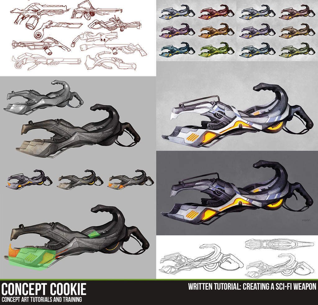 Written Tutorial: Creating a Sci-Fi Weapon by ConceptCookie