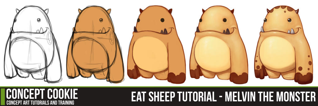 eat sheep tutorial melvin the monster by cgcookie on deviantart