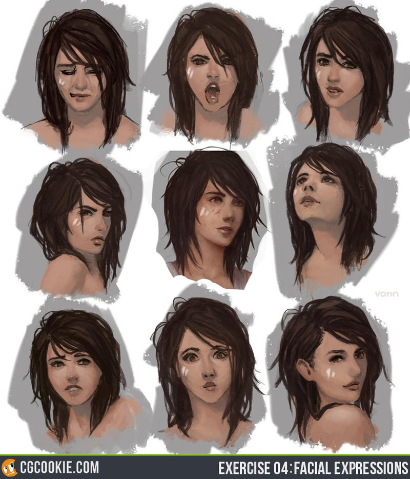 Exercise 04 Update: Facial Expressions by CGCookie