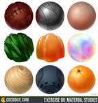 Exercise 08 - Material Study Results by CGCookie