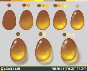 Shading a Gem Step by Step