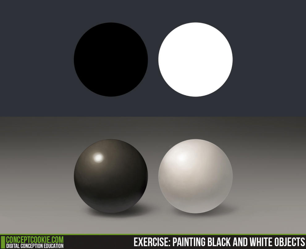 Exercise 11 - Shading Black and White Objects by CGCookie on ...