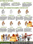 Pixel Characters Step by Step Tutorial by CGCookie