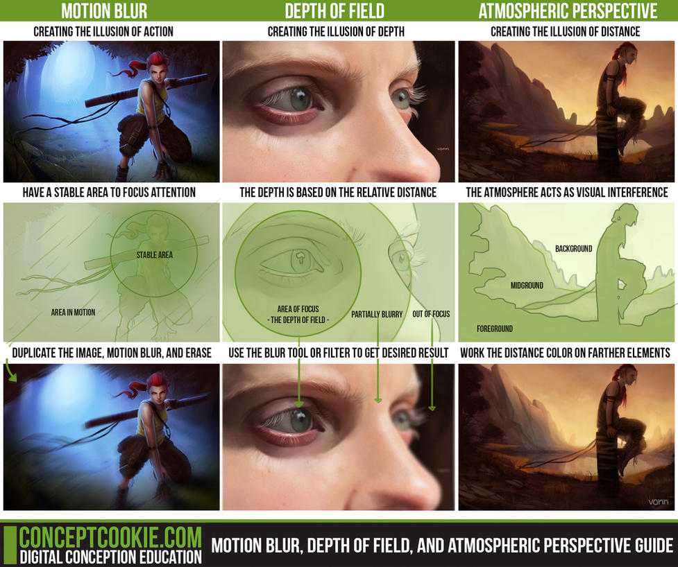 3 Visual Illusion Concepts Reference Guide by ConceptCookie