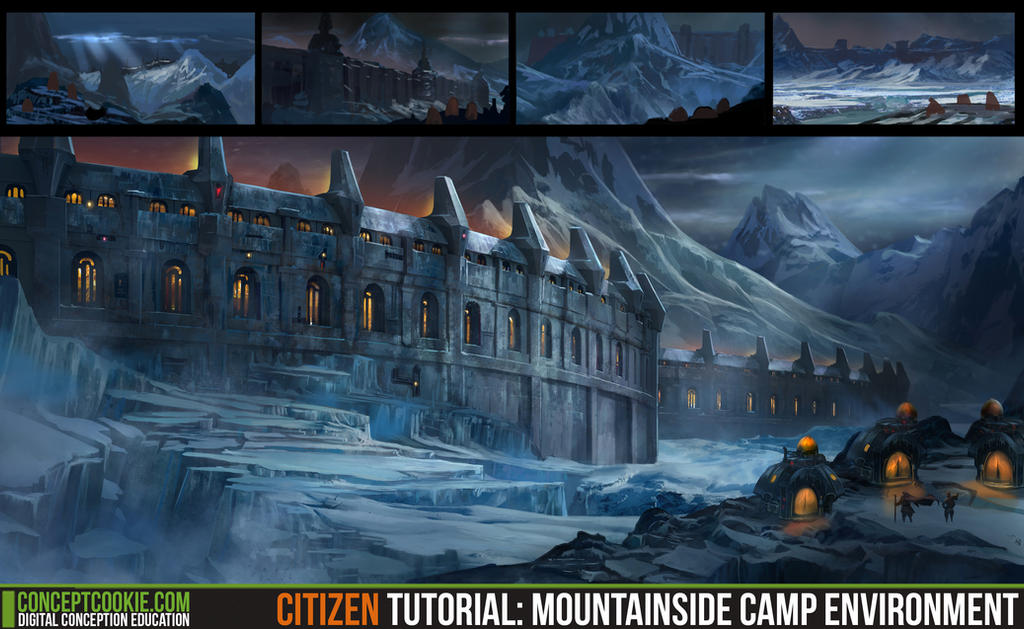 Citizen Tutoral: Mountainside Camp Environment by ConceptCookie