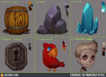 Exercise 18 Results: Painterly Style by CGCookie