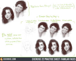 Exercise 22 Practice Sheet - Familiar Faces by CGCookie