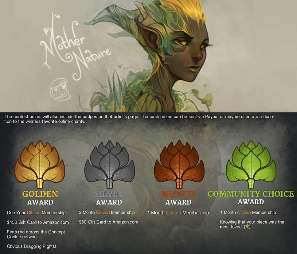 Character Design Contest 2014 : Spring contest mother nature by conceptcookie on