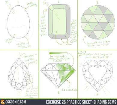 Exercise 26 Practice Sheet: Shading Gems