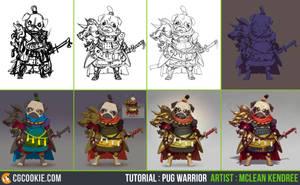 Tutorial Step by Step: Pug Warrior by CGCookie