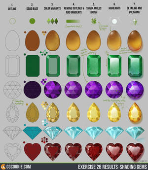 Exercise 26 Results: Shading Gems Step by Step