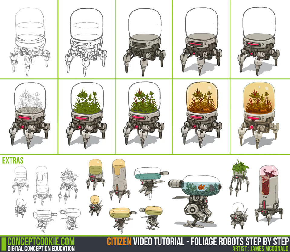 Color lineart in photoshop - Tutorial Sketching And Simple Coloring By Cgcookie